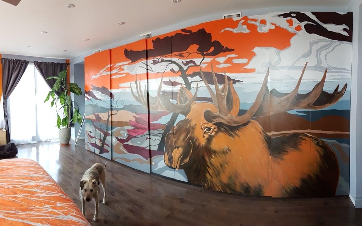 IKEA PAX doors ideas - mural