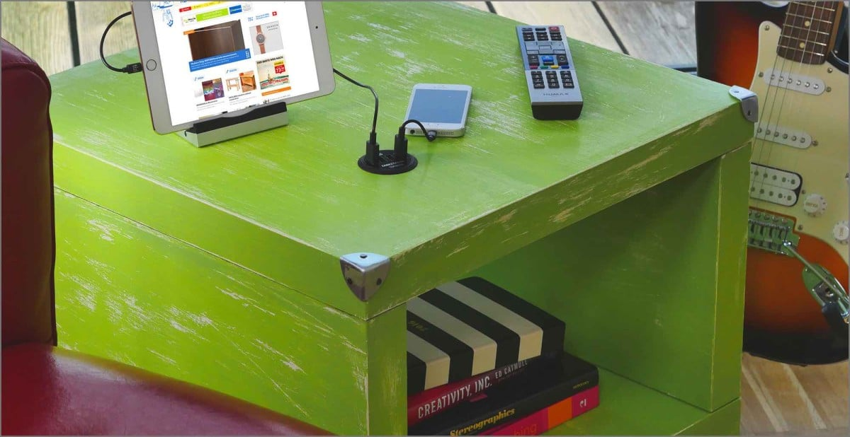 built-in USB charging station