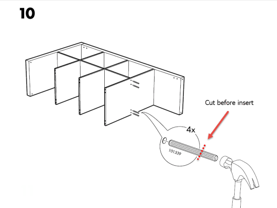 KALLAX bar assembly instructions