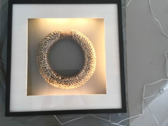 Extra deep RIBBA frame to display my tribal necklace