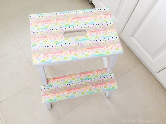 The BEKVÄM step stool gets pretty with washi tape