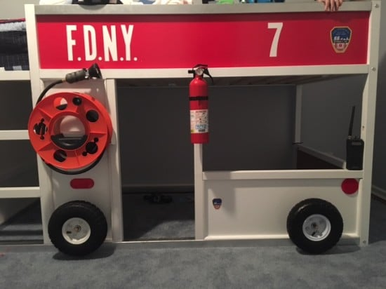 FDNY fire truck bunk bed