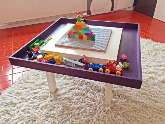 IKEA LACK LEGO table with tray