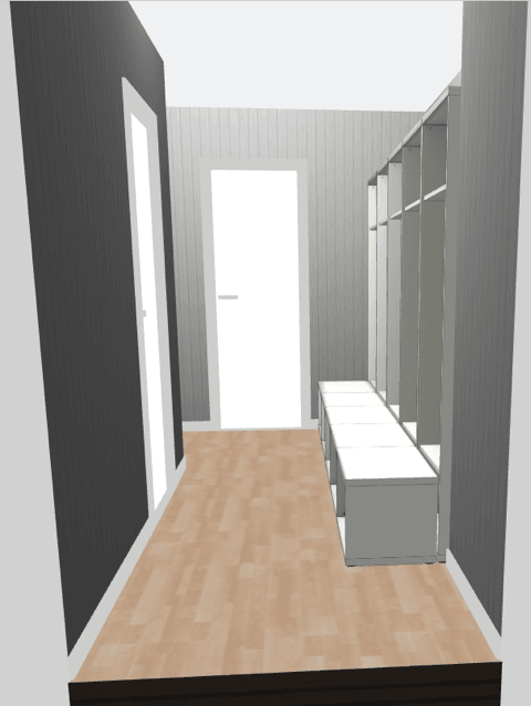 designing the large mudroom lockers on the ikea best planner
