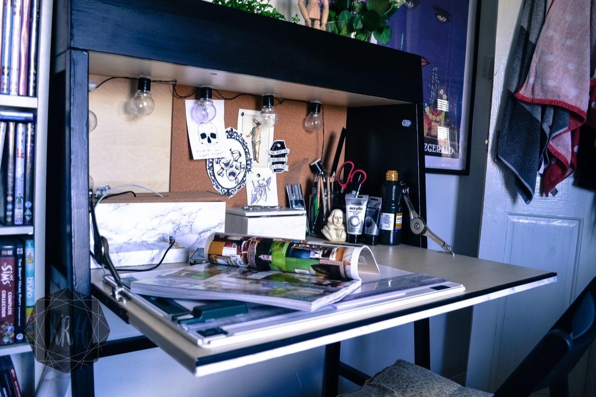 Hedendaags IKEA PS 2014 desk makeover: Orange to Minimalist IKEA Bureau IC-02