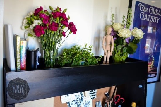 IKEA PS 2014 desk madeover