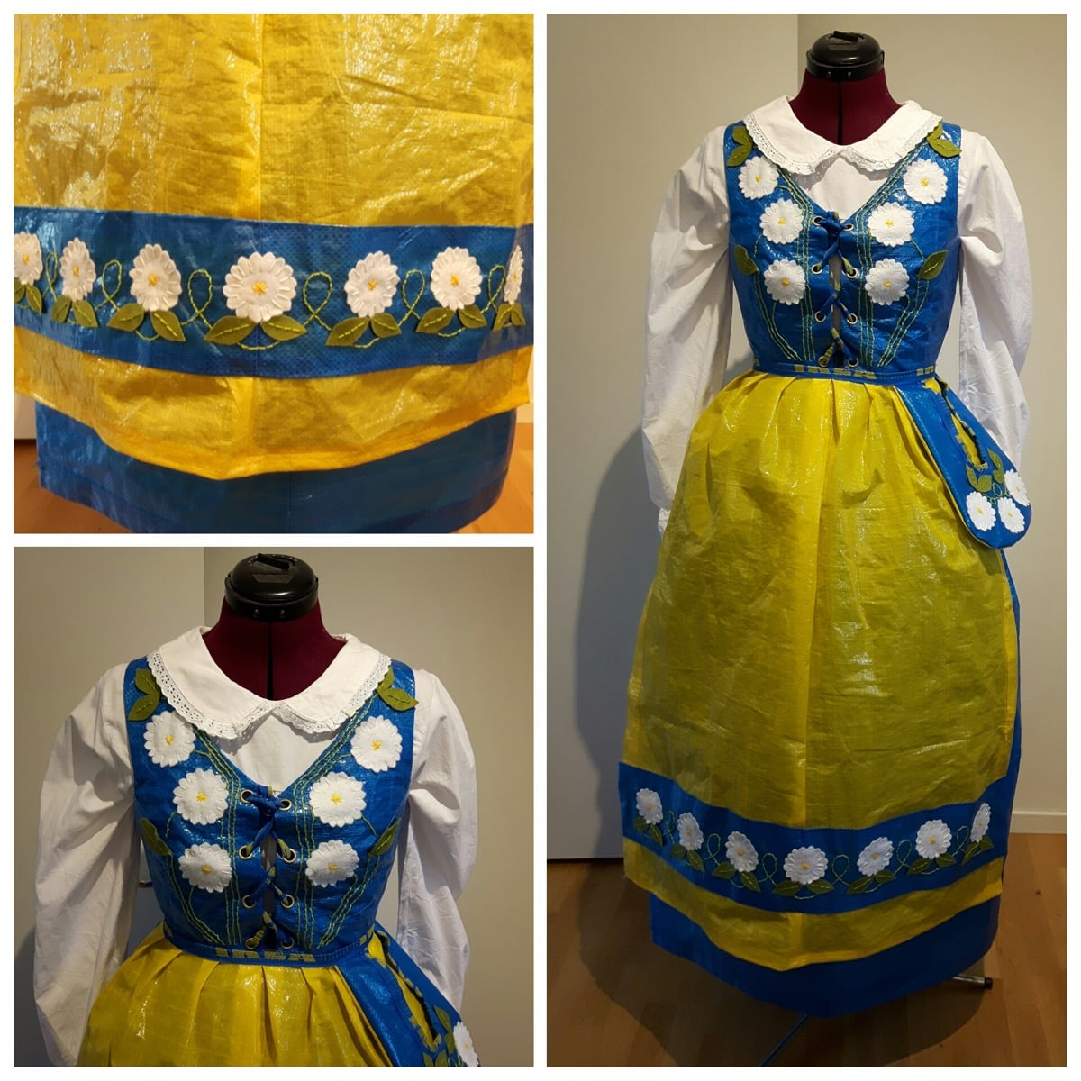 Swedish Folk Costume From 5 IKEA Bags Hackers