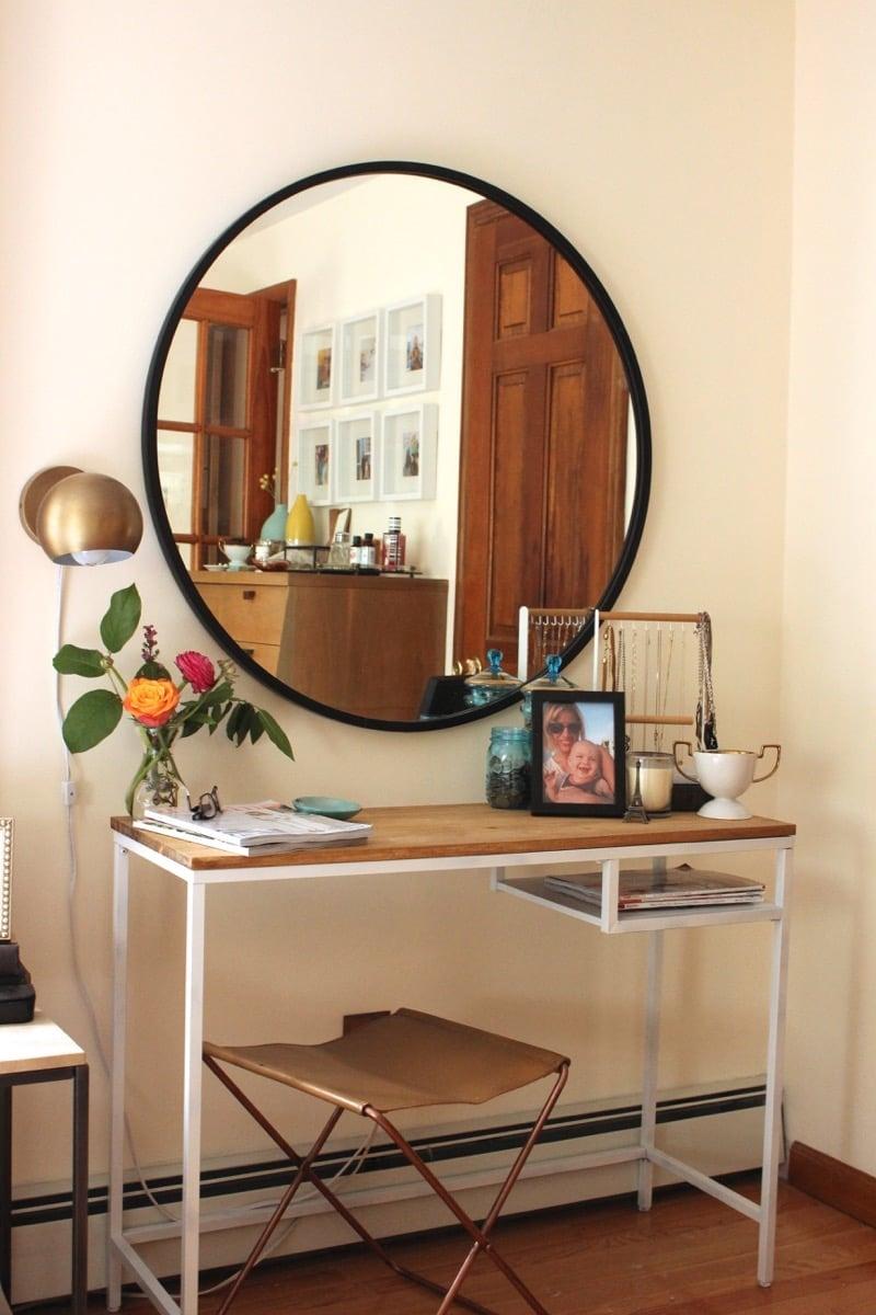 vittsj as entryway table and vanity ikea hackers. Black Bedroom Furniture Sets. Home Design Ideas