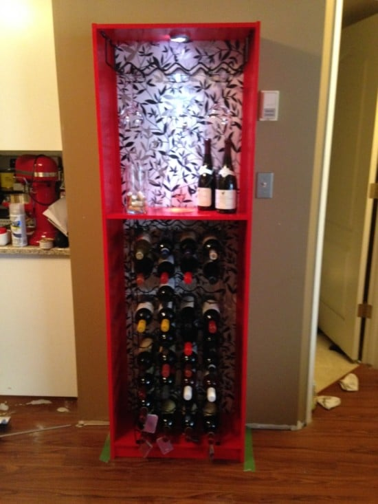 GERSBY bookcase to wine rack