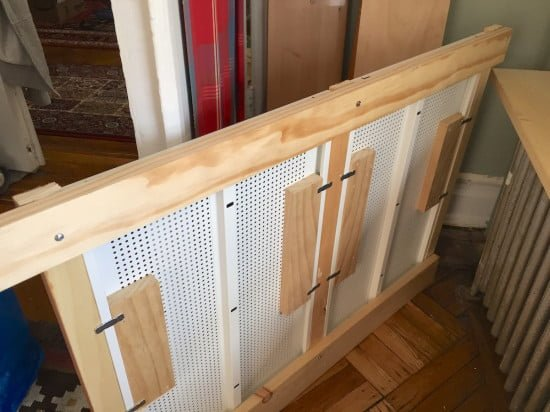 Wood frame to hold the shelves together