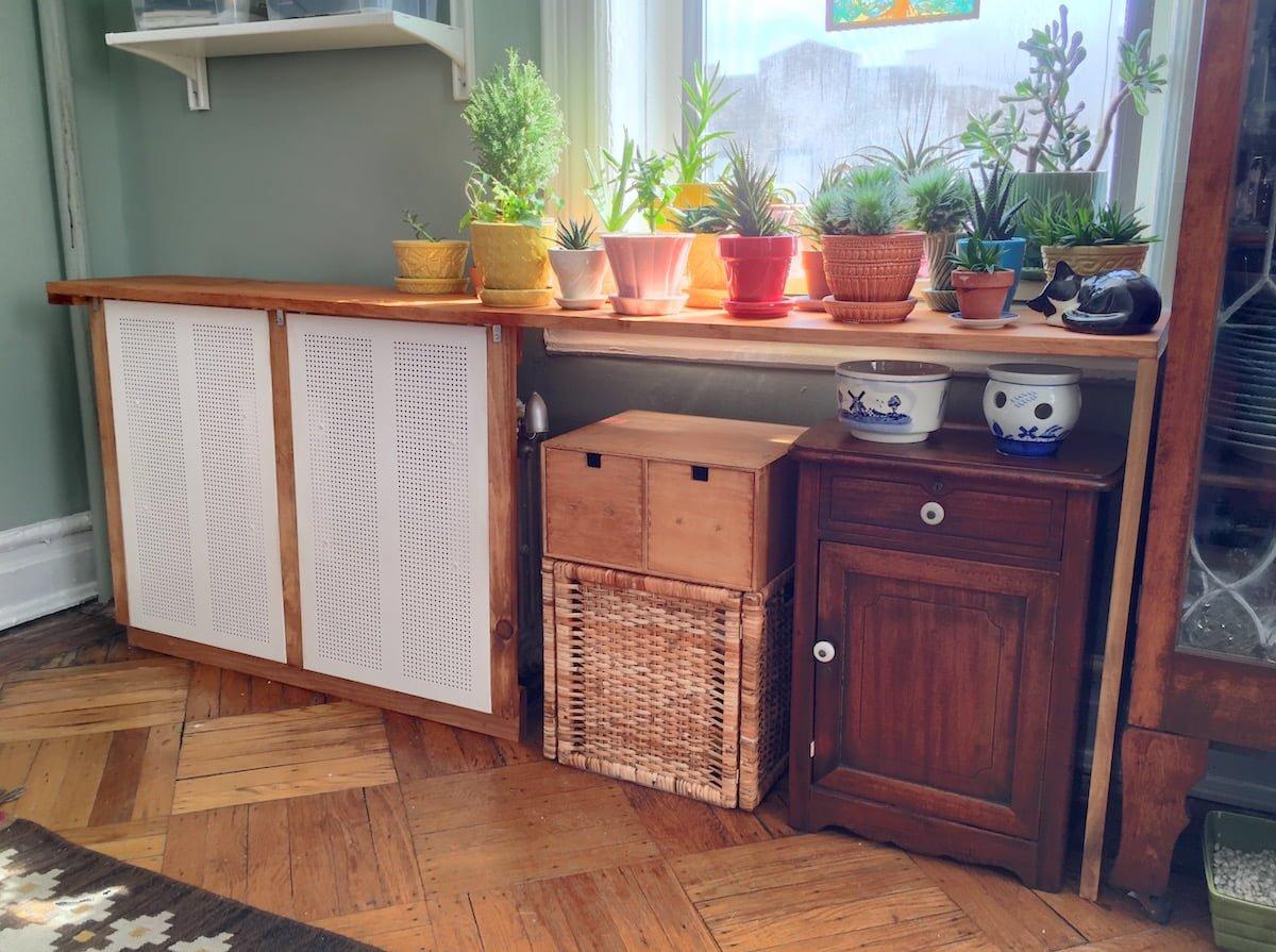 The algot radiator cover ikea hackers for Idea casa mobili