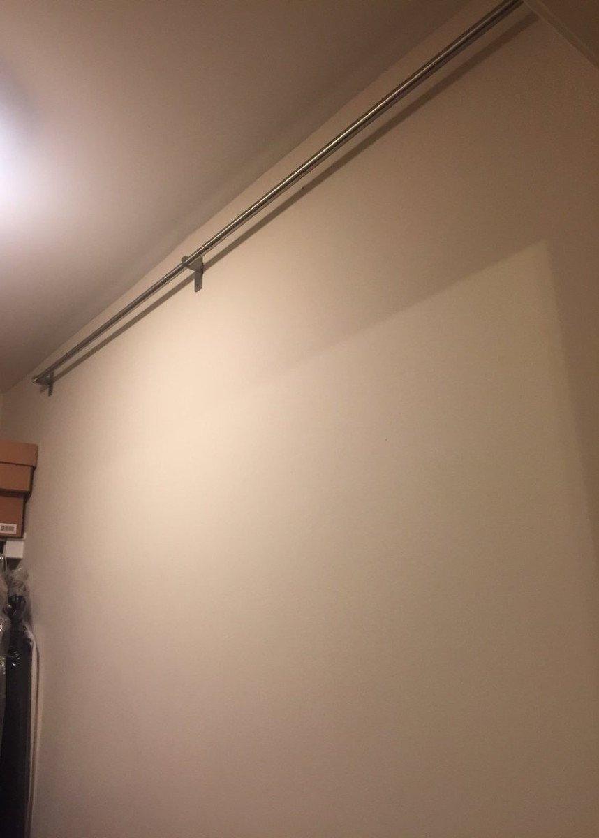 IKEA shoe organizer using kitchen rails