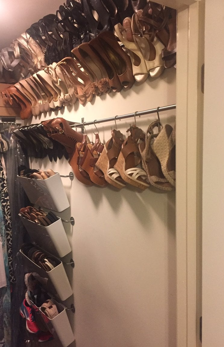 organized shoe storage without using an inch of precious floor space ikea hackers bloglovin. Black Bedroom Furniture Sets. Home Design Ideas