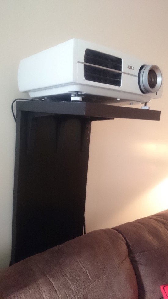 A video projector stand that won't screw up your wall