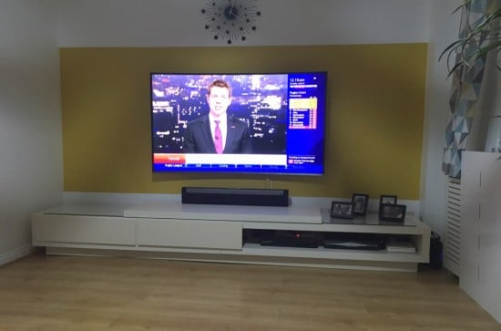 Lack tv stand at twice the length
