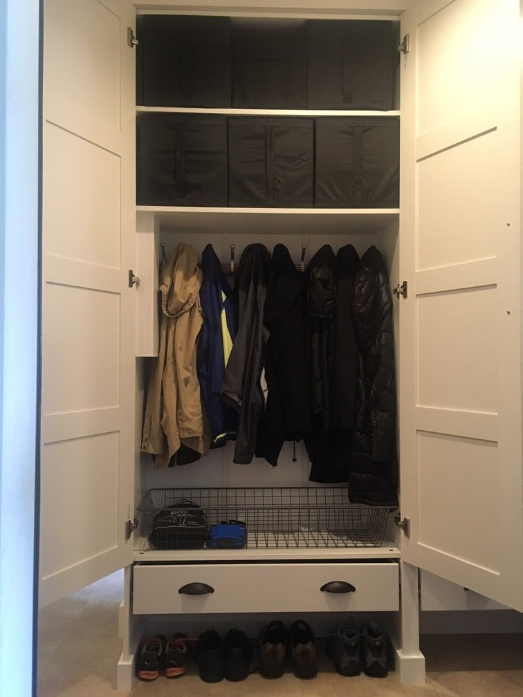Mudroom Style And Organization Using Pax Wardrobes Ikea