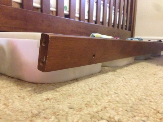 Hacking the TROFAST storage boxes as under-crib drawers