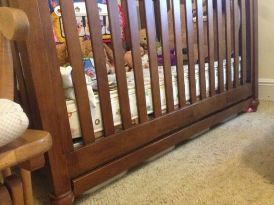 Under-crib drawers - closed