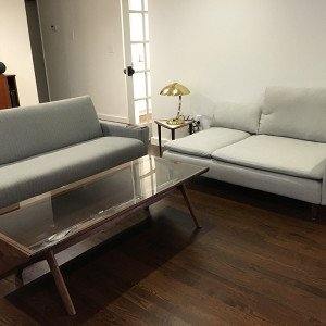 hacked chaise with sofa