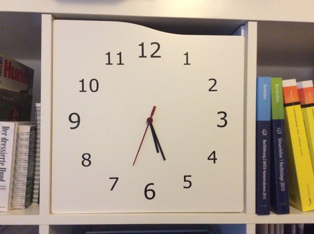 fresh idea whimsical clocks. KALLAX door clock  IKEA Hackers