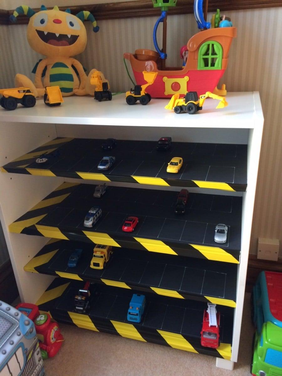 Kids Toy Car Park Storage Shelves Ikea Hackers