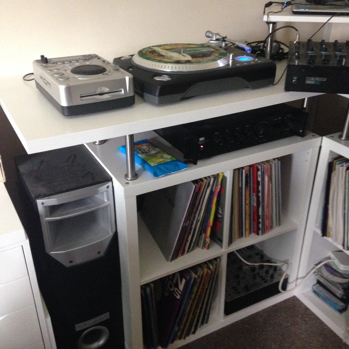 Space Saving Corner Dj Music Production Unit Ikea