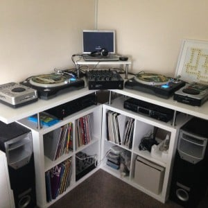kallax corner DJ station_3