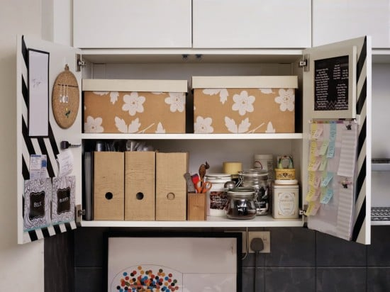 Create a kitchen command centre in an IKEA METOD cabinet