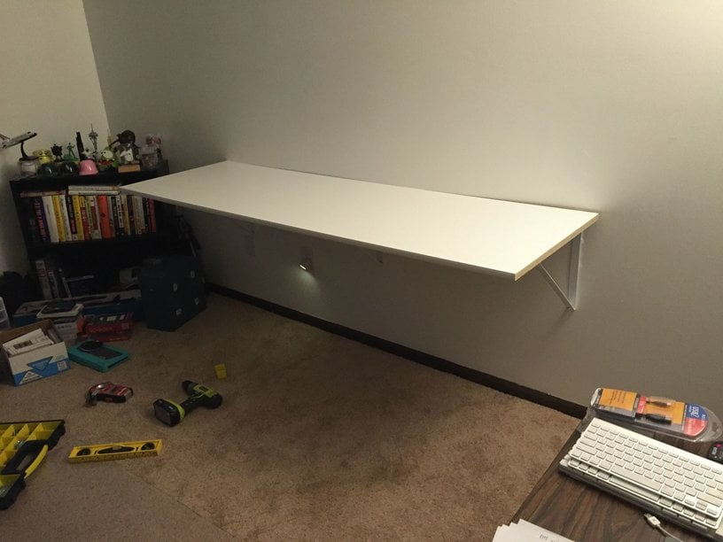 Hackers Help How Do I Wall Mount An Ikea Linnmon Table