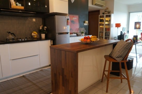 KARLBY worktop as a kitchen island