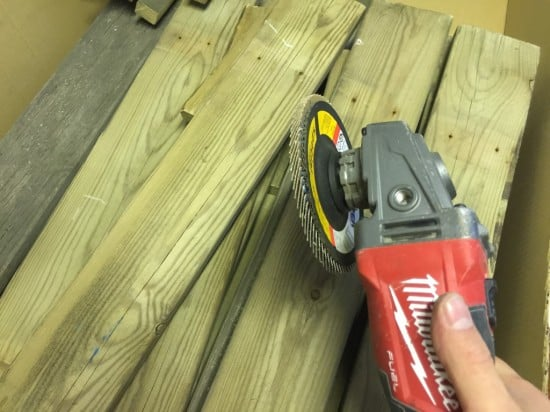 Cut the wood into the right lengths