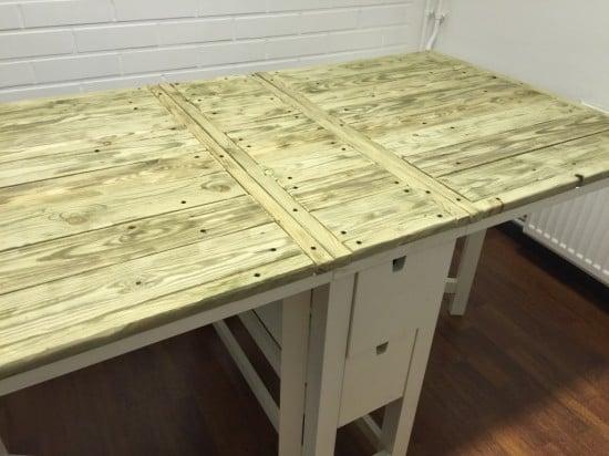 ikea norden folding table in riviera maison style ikea. Black Bedroom Furniture Sets. Home Design Ideas
