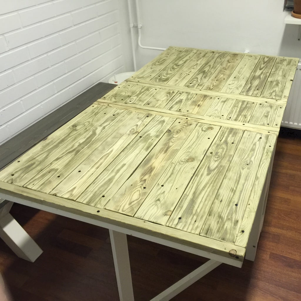 ikea norden folding table in riviera maison style ikea hackers ikea hackers. Black Bedroom Furniture Sets. Home Design Ideas