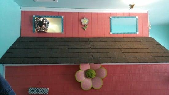 Floor to Ceiling Kids Playhouse under IKEA Loft Bed