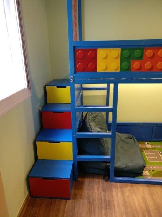 Kids Loft KURA bed with NORDLI stairs