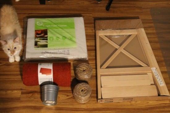 Materials for DIY cat tree