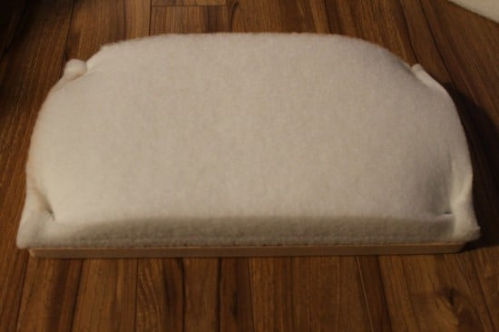 Add foam to the top step