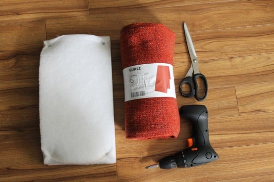 Wrap foam with IKEA GURLI blanket