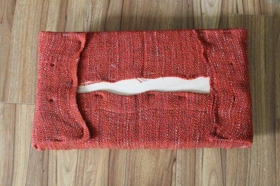 Wrap foam with IKEA GURLI blanket