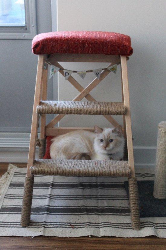 Diy cat tree with hammock ikea hackers ikea hackers for Cat tower with hammock