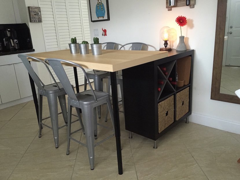 Kitchen Island Dining Table Ikea Hackers