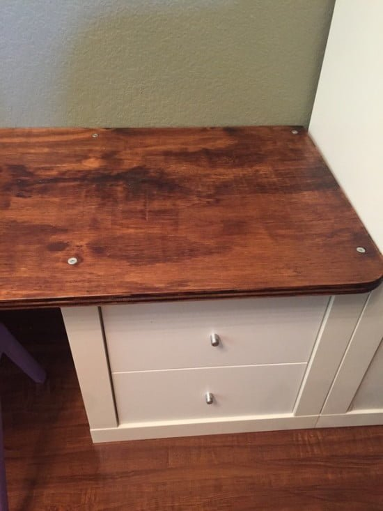 Kids work table with Expedit/ Kallax