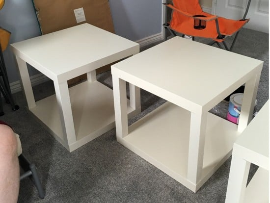Glue second table top to make LACK cubes