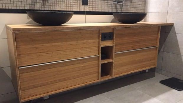 Custom Bamboo Bathroom Furniture With GODMORGON IKEA