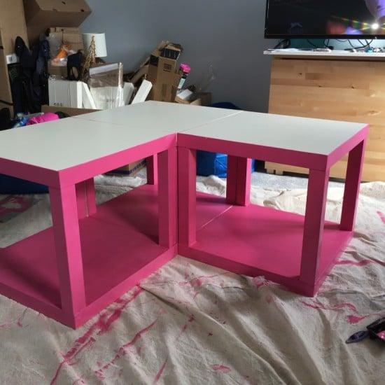 Paint the LACK tables