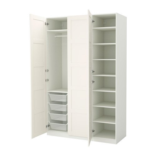 pax white door wardrobe cupboard locking for hackers doors double lock ikea help a
