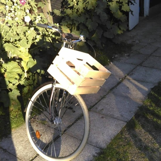 IKEA KNAGGLIG wooden bicycle basket
