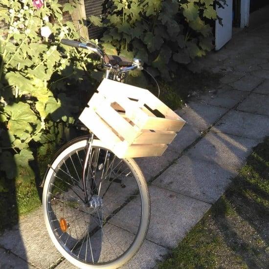 IKEA KNAGGLIG wooden bicycle basket