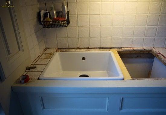 Undermount single-bowl Ikea Domsj? sink for a vintage kitchen - IKEA ...