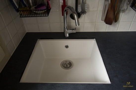 Undermount single bowl ikea domsj sink for a vintage - Best caulk for undermount kitchen sink ...